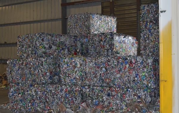 recyclable can bales | UBC bales | TC Recycling facility | Recycling in Mars PA