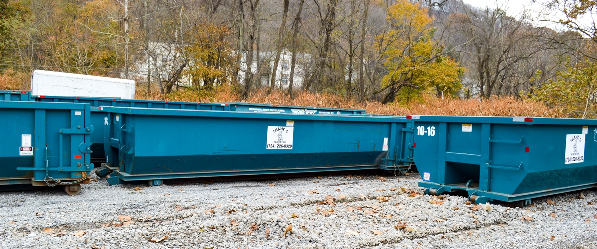 Shank Waste Service commerical dumpsters.