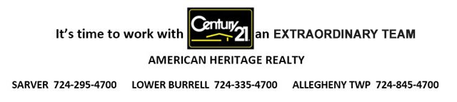 century 21 | real estate | buy a house | sell a house | Sarver, Allegheny township, Lower Burrell