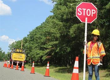 Traffic control worker