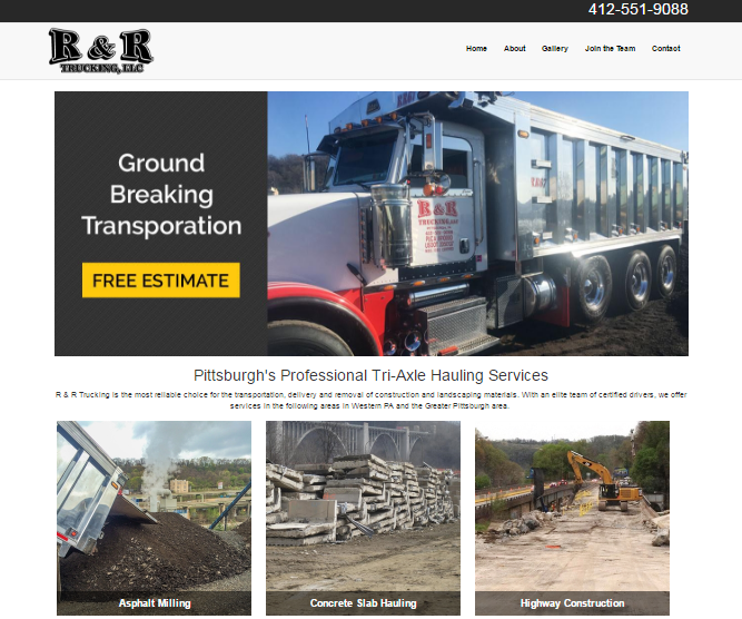 R&R Trucking Website Launch - We love it when our clients have drive.  One of our most recent projects was a new website f...