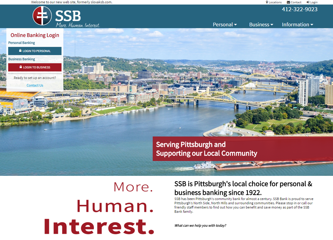 SSB Bank Website Launch - SSB Bank in the North Side has served Pittsburgh since 1922. Formerly Slovak Savings Bank, the c...