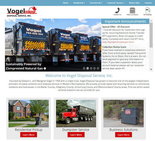 Vogel Hauling Sites Launch - Vogel Holding, Inc. has served western Pennsylvania for 58 years. What started with two peopl...
