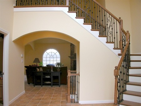 A foyer in a Jefferson Hills new home.
