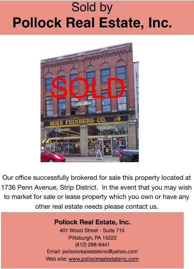 Sold 1736 Penn Avenue Strip District, Mike Feinberg Building. -  ...