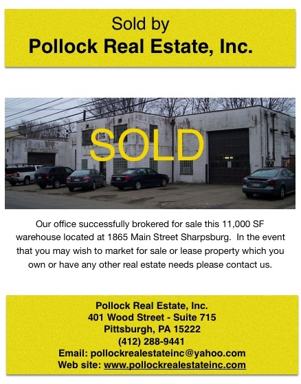 Sold Sharpsburg Warehouse...Thank you to Jim Kelly of Avison Young who represented the Buyer. - s ...
