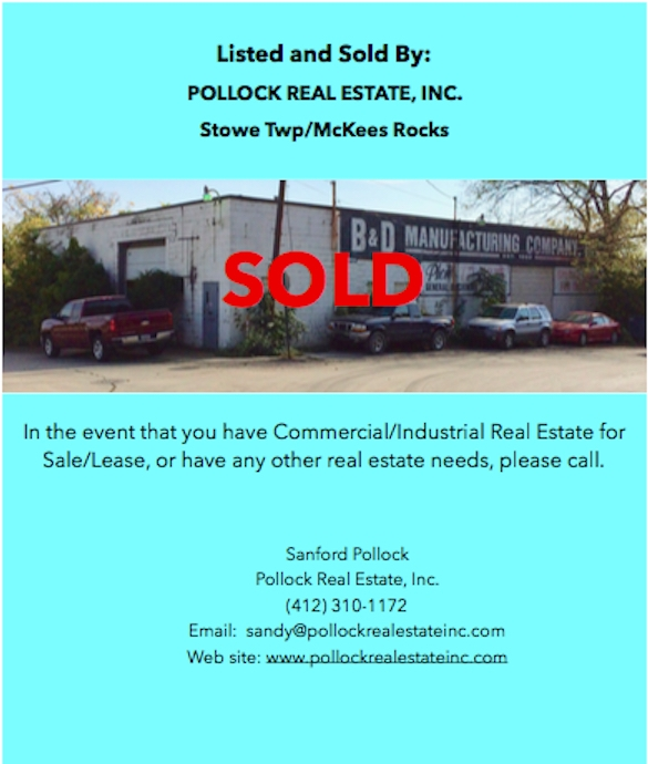 Sold Stowe Township near new Intermodal Terminal