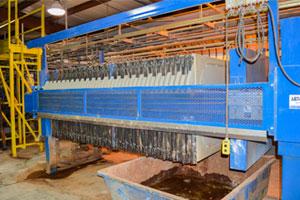 Multi-stage treatment process at Seneca Landfill.