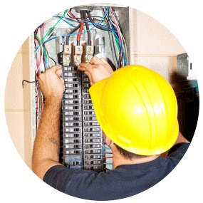 Residential electrician maintaining house electricity.