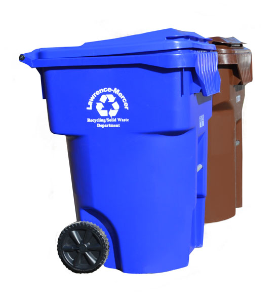 lawrence-mercer county garbage and recycling cans