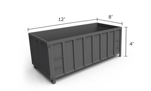 vogel disposal service 12 yard dumpster