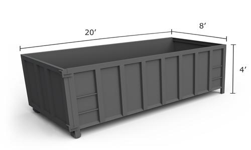 vogel disposal service 20 yard dumpster