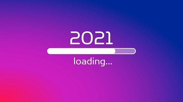 2021 loading on purple gradient background