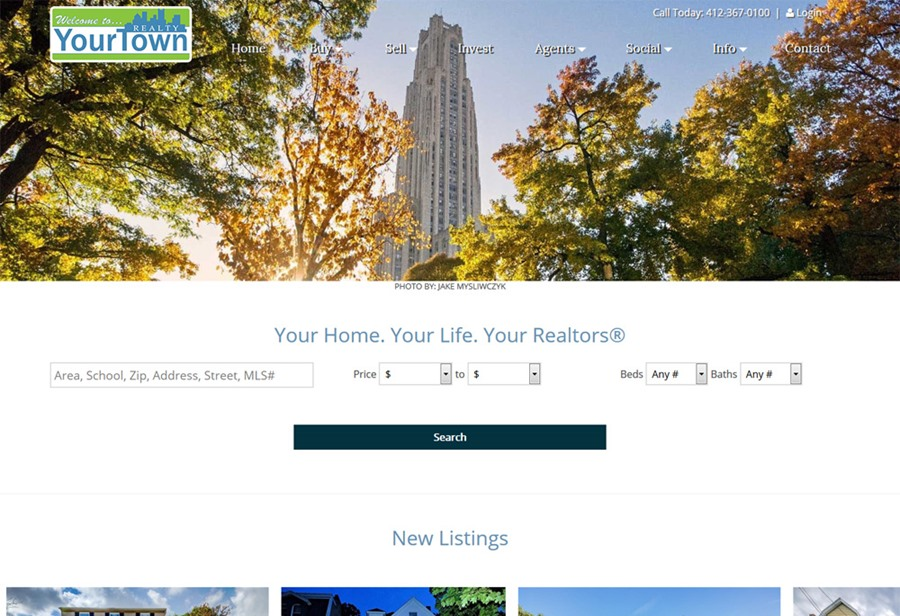Your Town Realty website