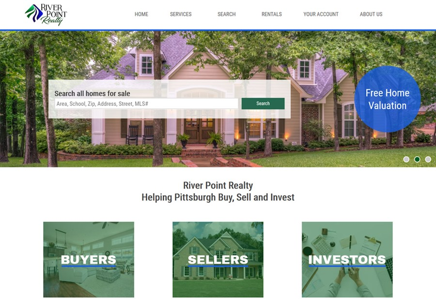 River Point Realty website