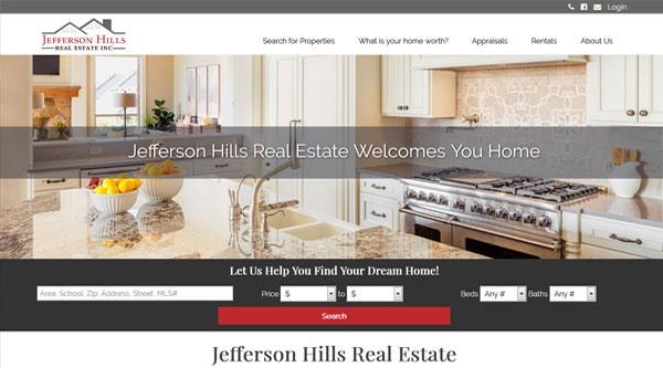 Jefferson Hills Real Estate website