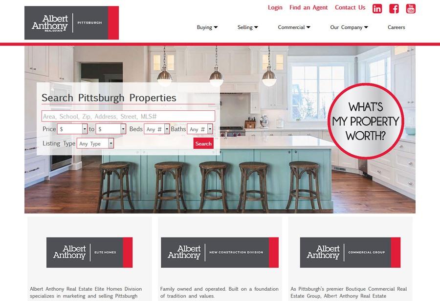 Albert Anthony Real Estate website
