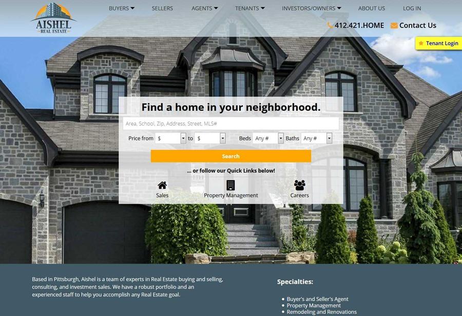Aishel Real Estate website