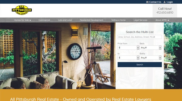 All Pittsburgh Real Estate website