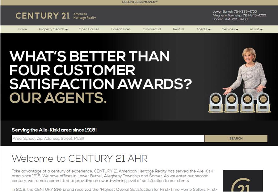 Century 21 American Heritage Realty website