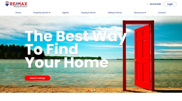 RE/MAX Realty Brokers website