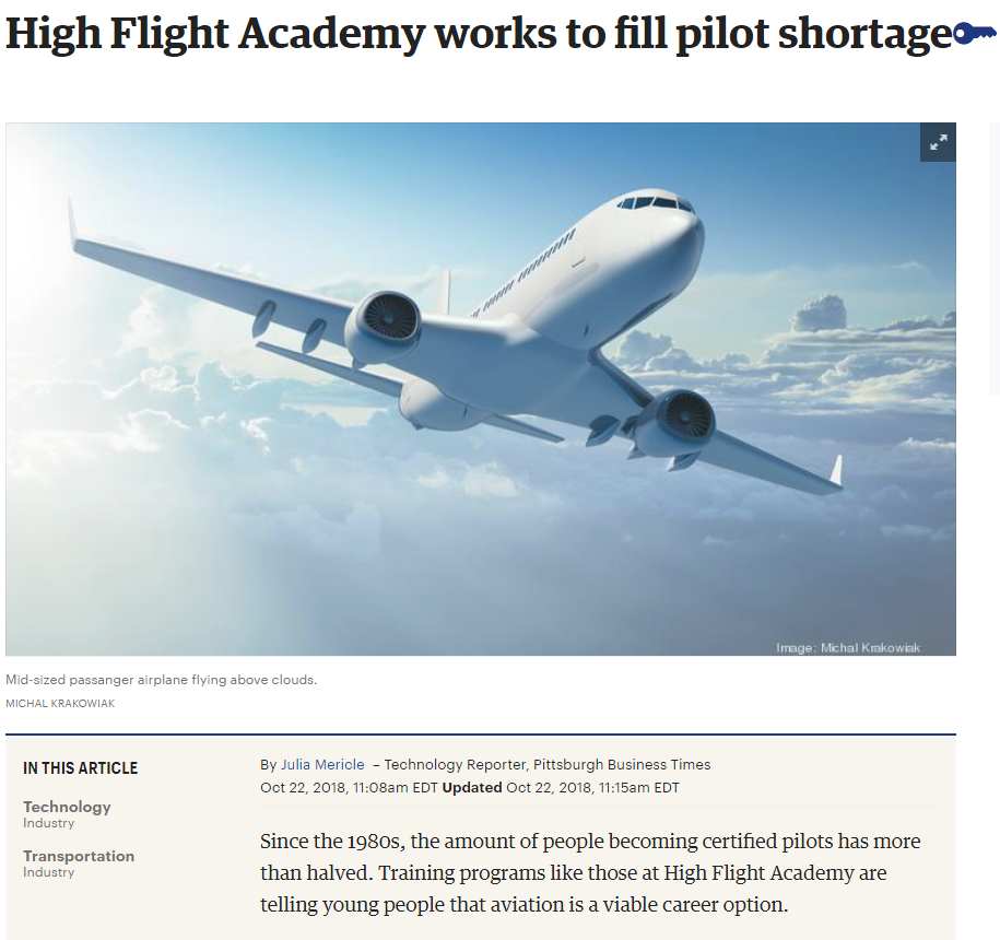 High Flight Academy Business Times Feature article