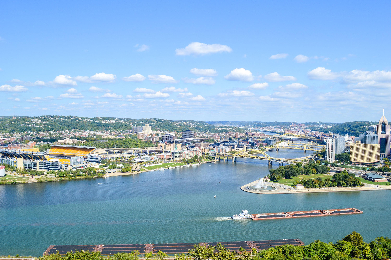 Pittsburgh city skyline from Mt.Washington