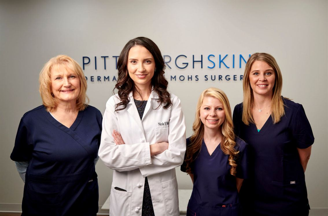 Group of female professionals who work for Pittsburgh Skin