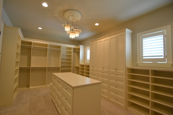 large closet with several compartments