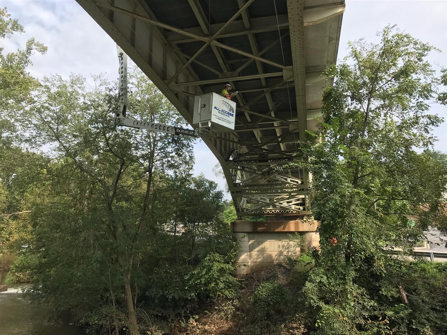 All Access Rigging Co and GPI working together 9/19/2018  on Bridge 2112400 US 522 OVER MD 144 TONOLOWAY CREEK   -      ...