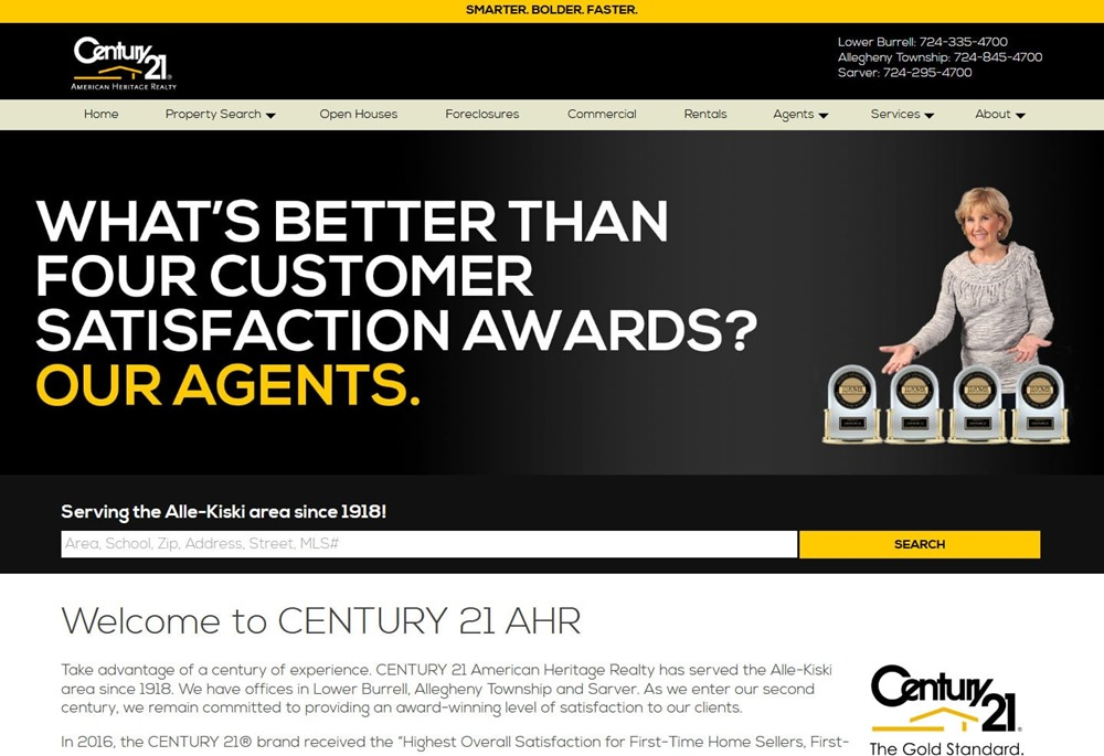 Real Estate IDX site for Century 21 American Heritage