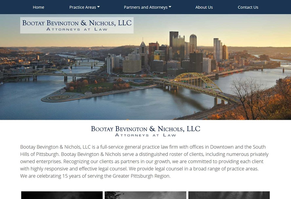 Bootay Bevington & Nichols Law Website Design
