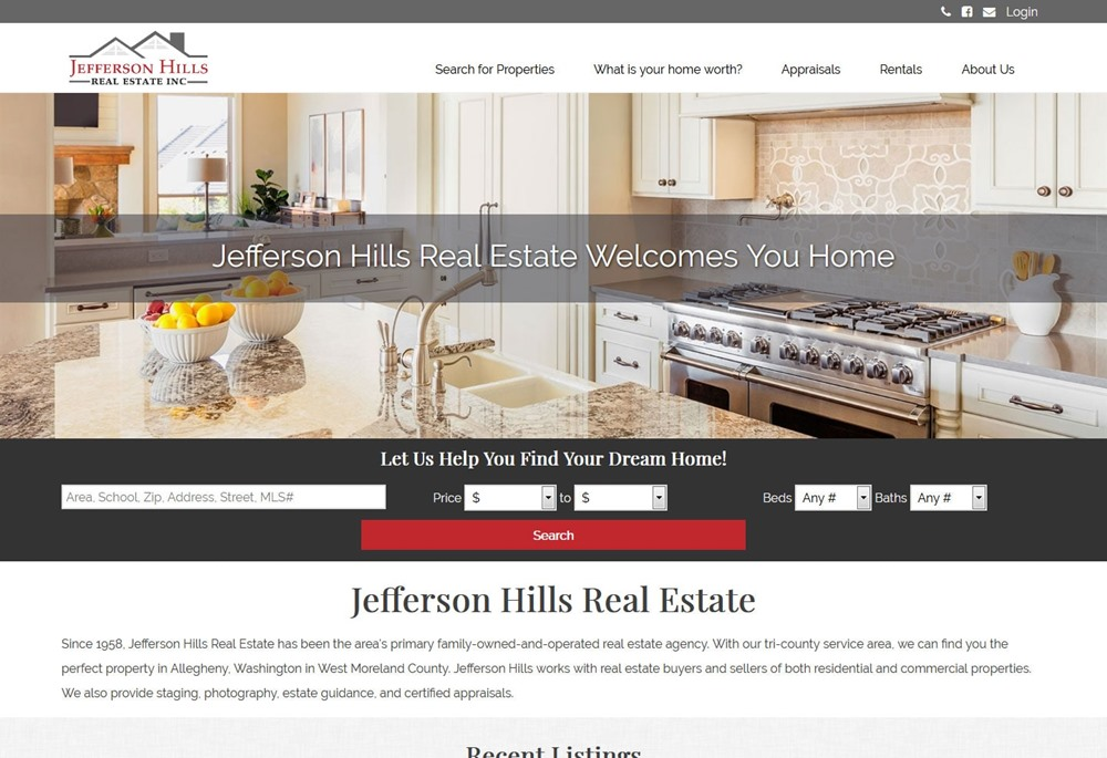 Jefferson Hills Real Estate Website Design