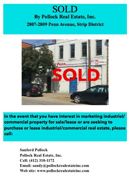 SOLD 2807-2809 Penn Avenue , Strip District - Just Closed 2807-2809 Penn Avenue, #StripDistrict  #Pittsburgh www.sanfordpo...