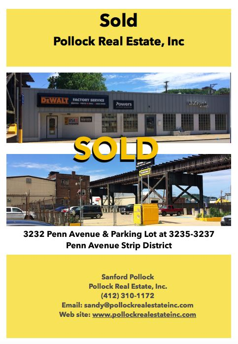 Sold 3232-3235-3237 Penn Avenue Strip District -   If you have Industrial or commercial real estate you may wish to market...