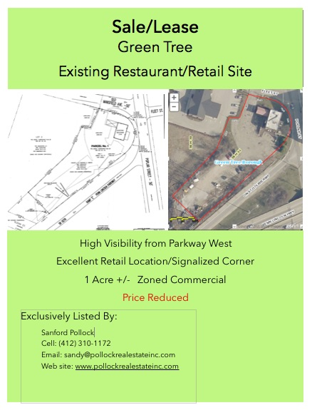 Green Tree 1 Acre Retail with huge visibility - Green Tree at Parkway Ramp.  Acre for development.  Possible leaseback for...