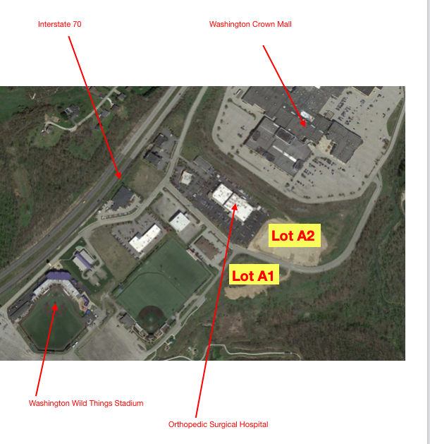 Washington Crown Center  Area 2.4+ Acres - For Sale Two lots zoned C2 in Office/Retail Park. All utilities. Near; I-70 exi...