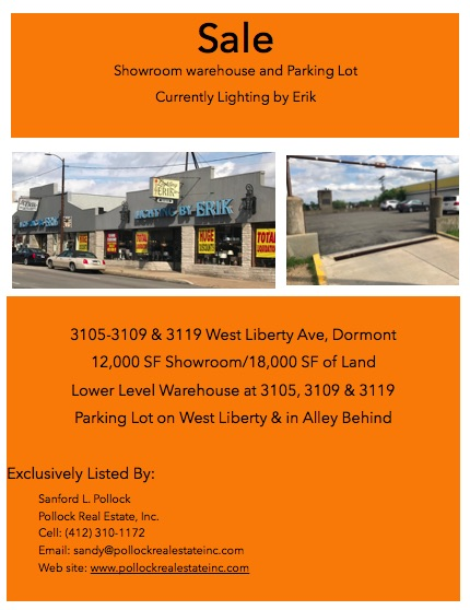 Showroom & Parking West Liberty Ave Dormont - Sale West Liberty Avenue Dormont Showroom warehouse and parking. Located acr...