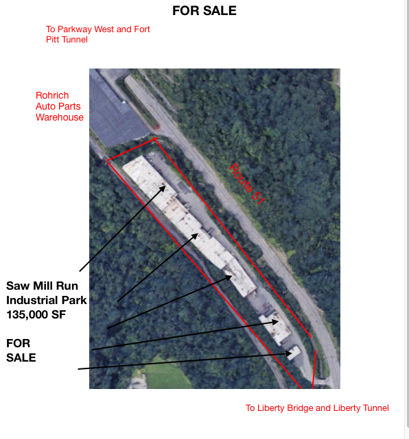 Offering for Sale Industrial Park 138,000 SF - We have listed Exclusively for Sale the Saw Mill Run Industrial Park locate...