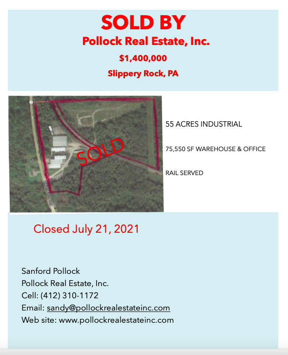 Sold $1.4 million Industrial property - Sold by Pollock Real Estate, Inc. $1.4 Million sale. #industrial #warehouse #offic...