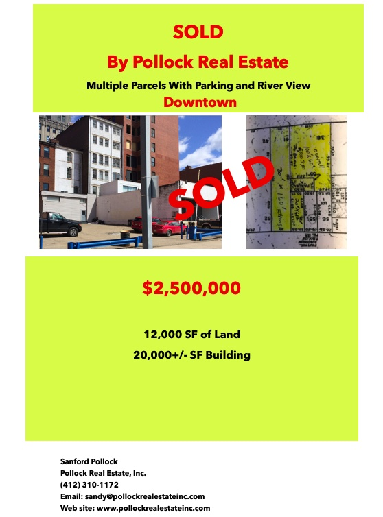 Sold Downtown 2.5 million - Closed..... Listed and Sold by Pollock Real Estate Inc.  Downtown Pittsburgh $2.5 Million. San...
