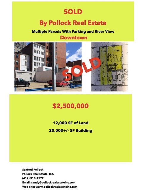 Sold Downtown Fort Pitt & First Avenue - Closed..... Listed and Sold by Pollock Real Estate Inc.  Downtown Pittsburgh $2.5...
