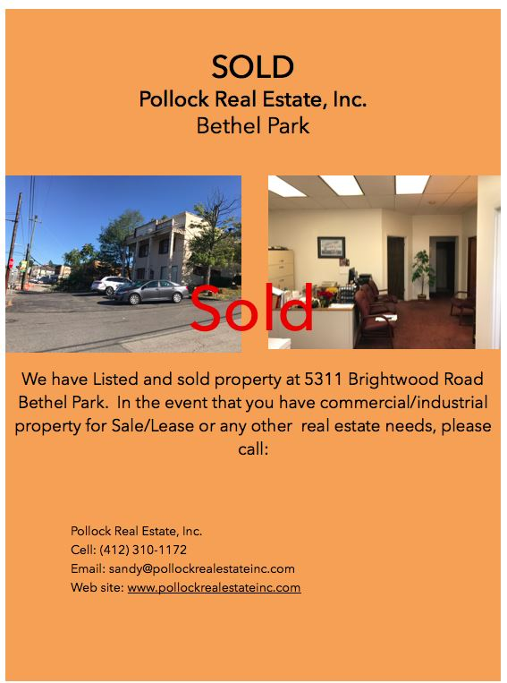 Sold/Closed Bethel Park - Closed Office Building located in Bethel Park. www.sanfordpollock.com www.pollockrealestateinc.c...