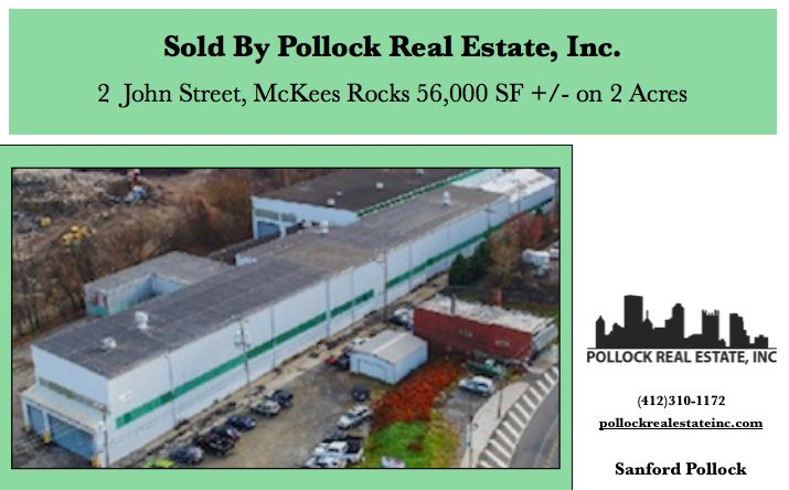 Just Closed McKees Rocks 56,000 SF - Just Closed.  Sold by Pollock Real Estate, Inc @sanfordpollock @mckeesrockscdc #pitts...