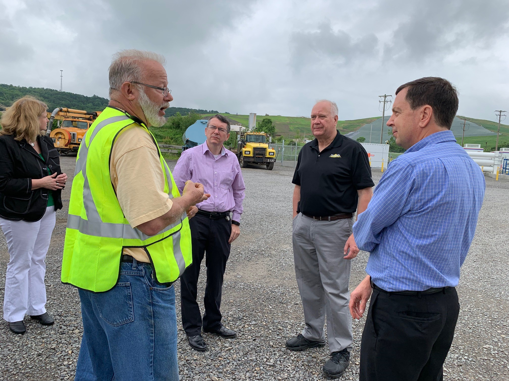 DEP Secretary Tours Vogel Holdings' Compressed Natural Gas Filling Station and High BTU Gas Processing Plant at Seneca Landfill