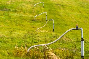 Gas extraction wells at Seneca Landfill.