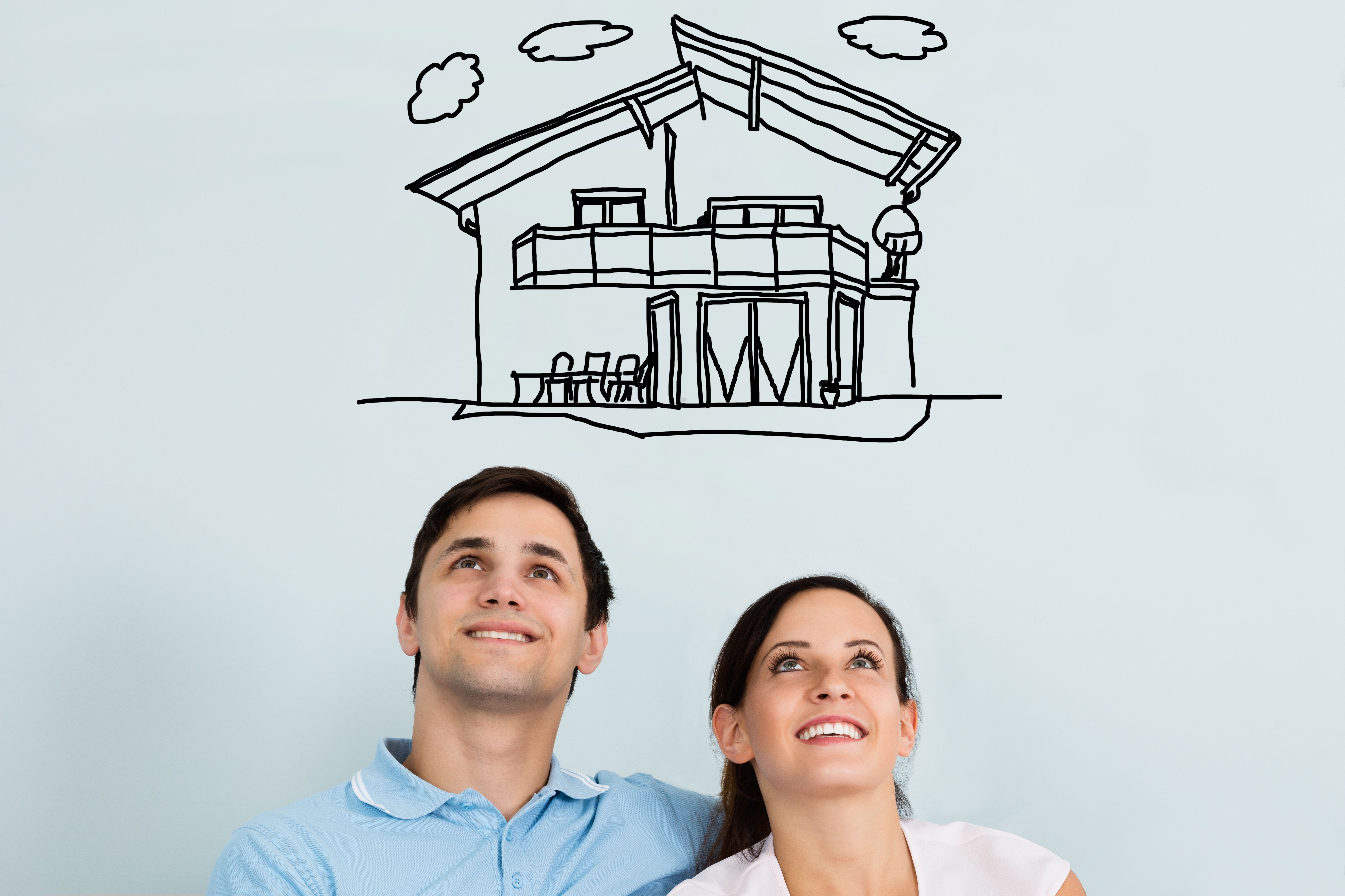 first time homebuyers dreaming of house
