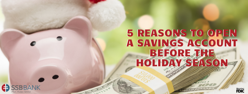 piggy bank with santa hat | reasons to open savings account before holiday