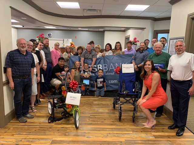 Variety- The Children's Charity and SSB Bank presentation of Bike, Stroller and Communication Device to Caleb this past summer.
