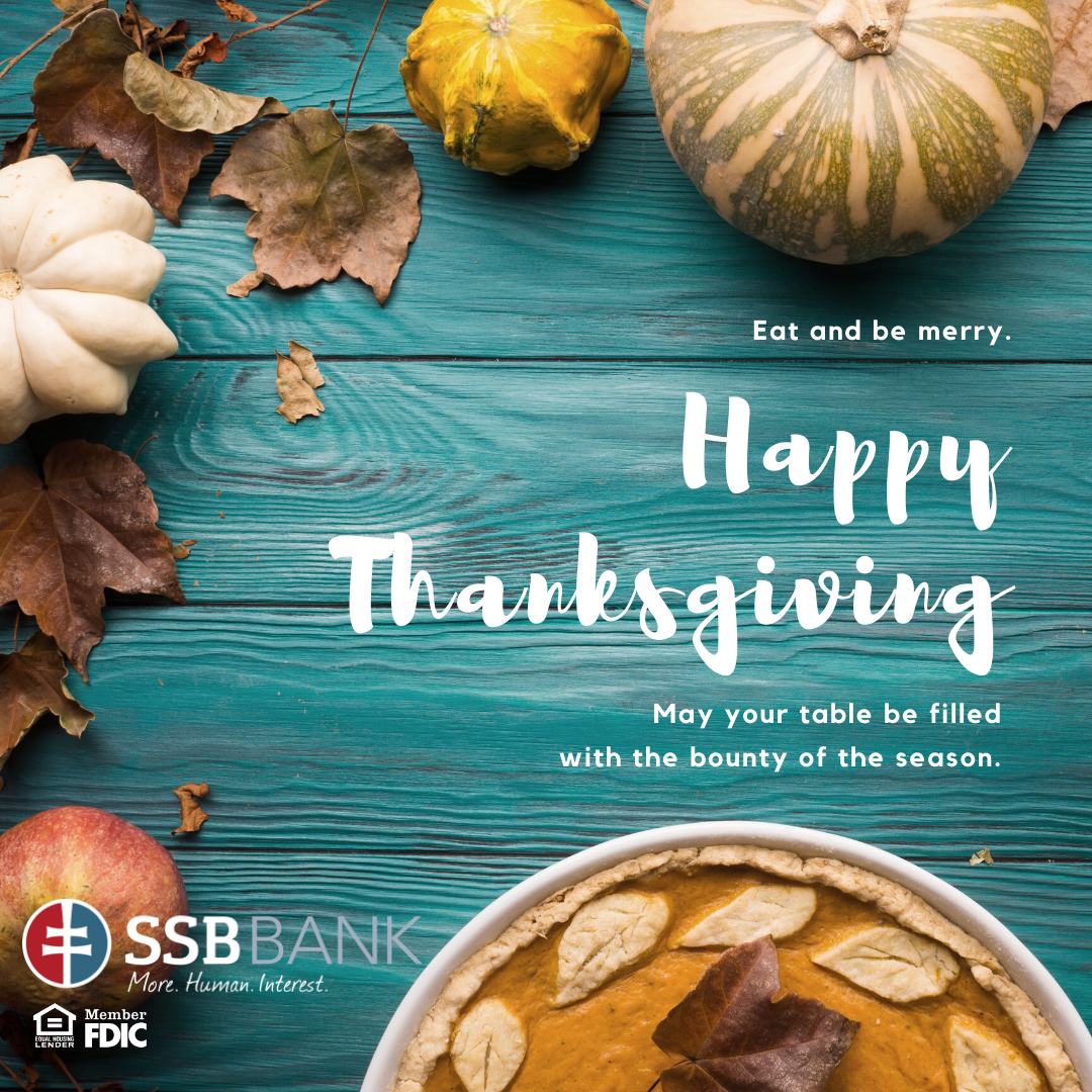happy thanksgiving from ssb bank